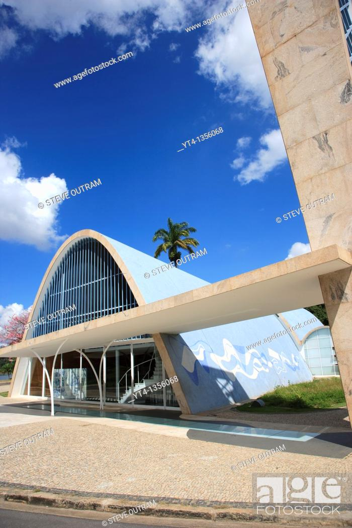 Stock Photo: The Church of San Francisco de Assis in Pampulha built by architect Oscar Niemeyer  Belo Horizonte, Minas Gerais, Brazil.