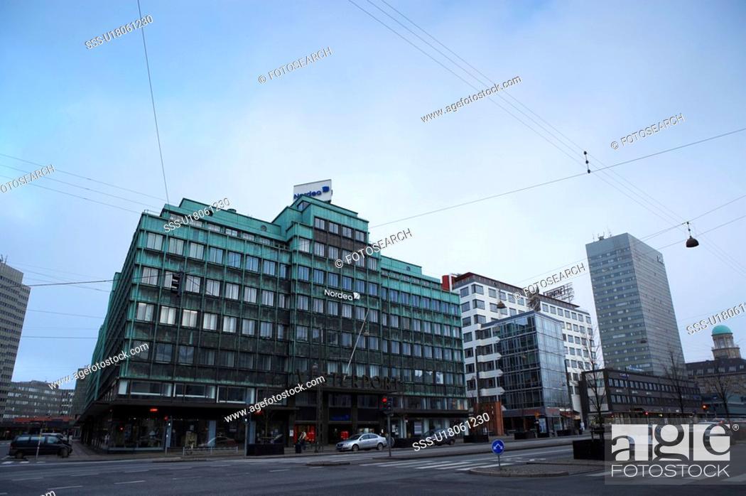 Stock Photo: Street of Radhuspladsen, Denmark.