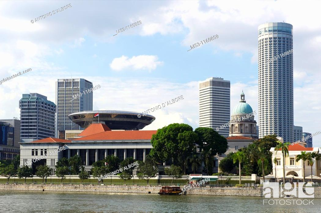 Stock Photo: The Parliamento house in Singapore.
