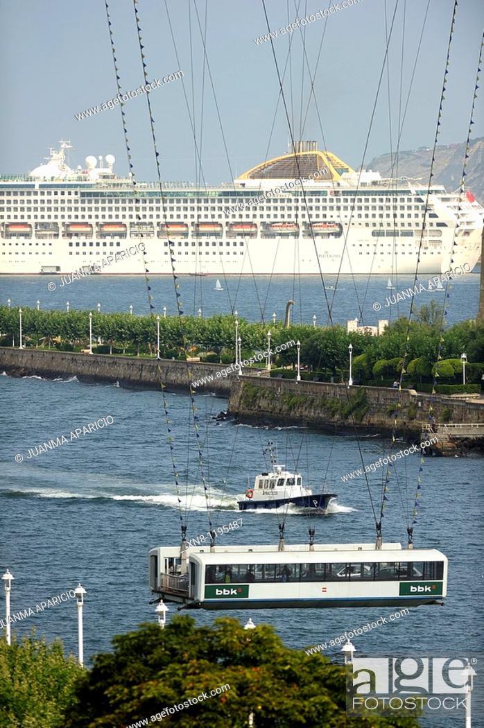 Stock Photo: Vizcaya Transporter Bridge.
