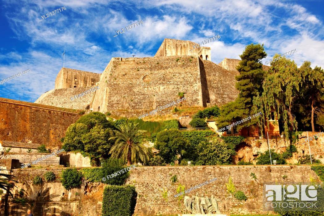 Stock Photo: Neo Frourio   F  Corfu City, Greek Ionian Islands.