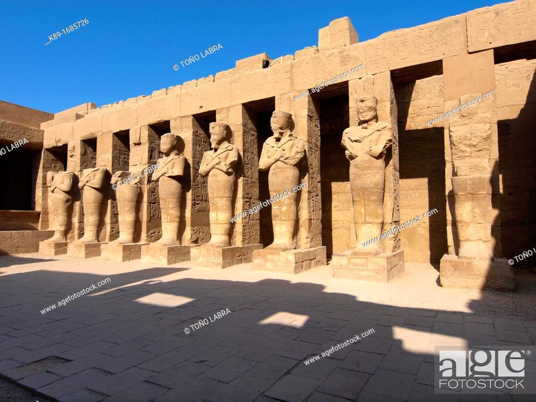 Stock Photo: Karnak Temple  Luxor  Upper Egypt.
