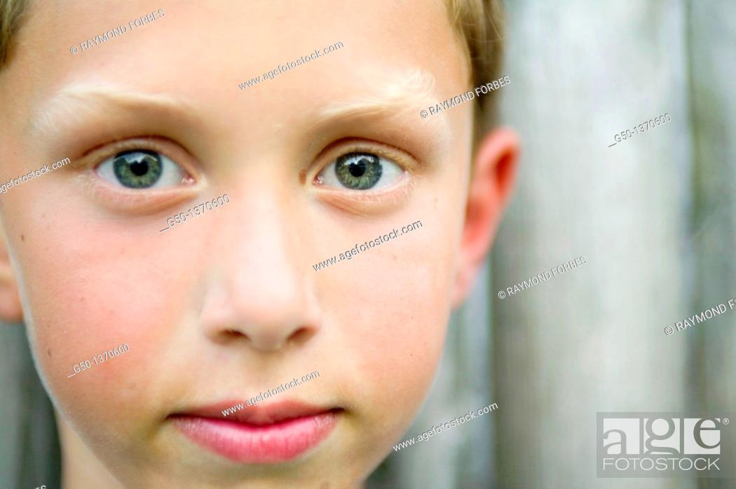 Stock Photo: Portrait of 8 Year Old Boy.