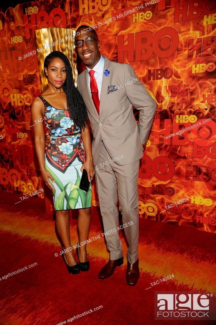 Stock Photo: Shahidah Omar (l) and J. B. Smoove attends HBO's 2015 Emmy After Party at the Pacific Design Center on September 20th, 2015 in Los Angeles, California.