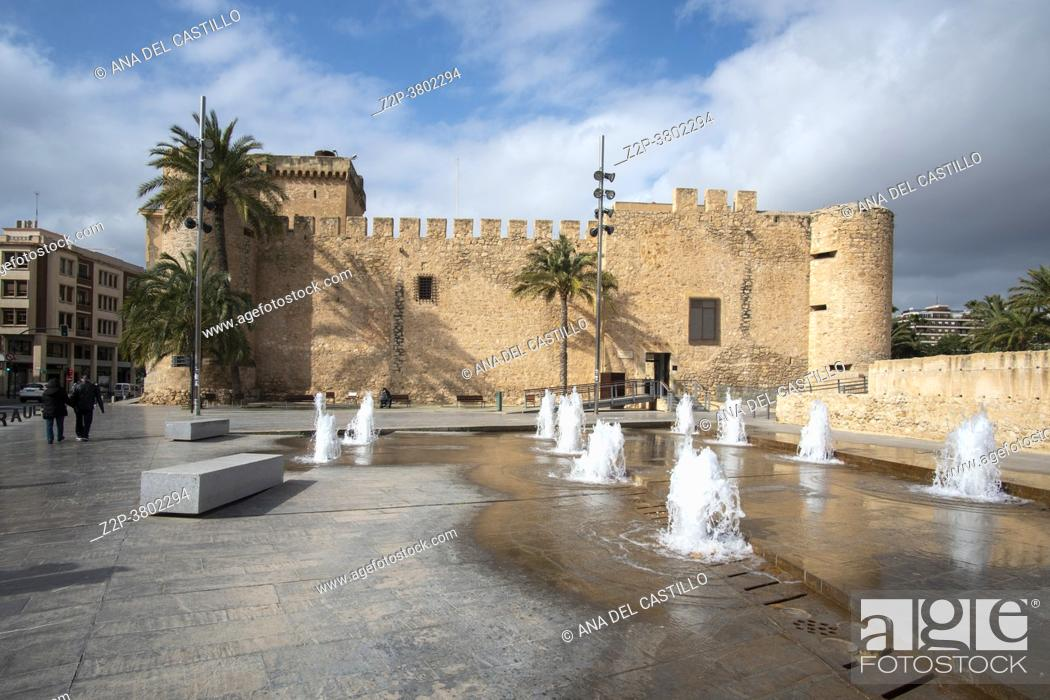Stock Photo: Elche Alicante Spain : The MAHE Museum of archaeology.