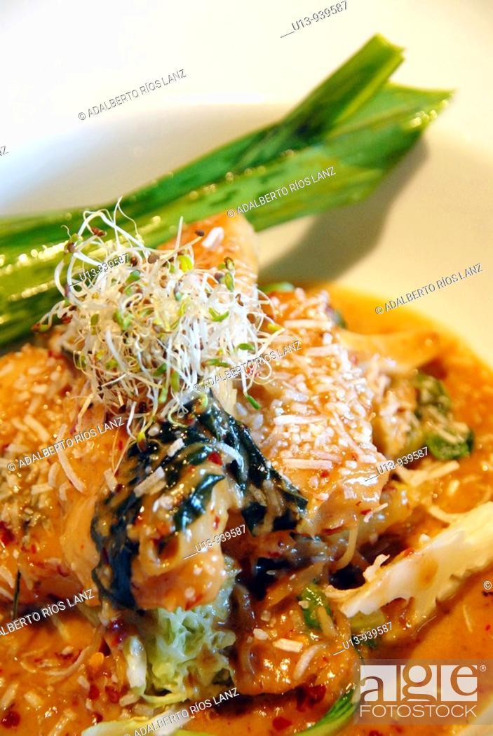 Stock Photo: Thai, coconut, curry.