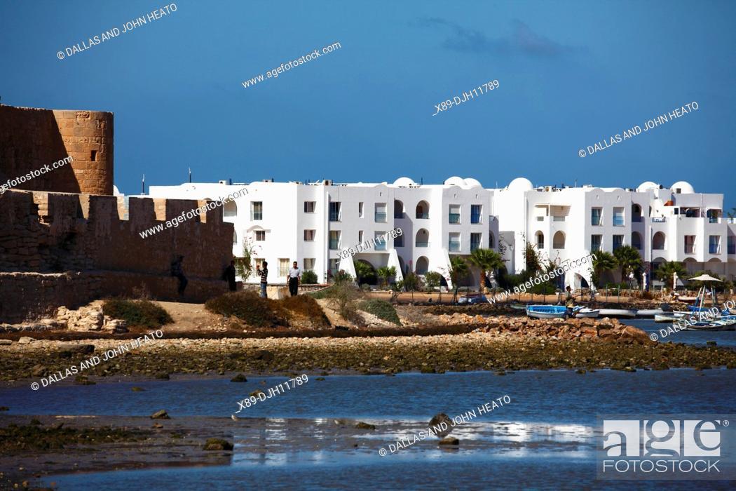 Stock Photo: Africa, Tunisia, Djerba Island, Houmt Souk, Borj el Kebir Fortress.