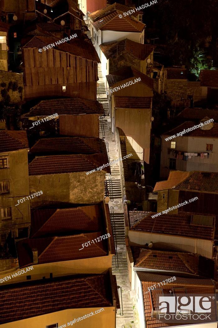 Stock Photo: Rooftops in Oporto Porto, Portugal.