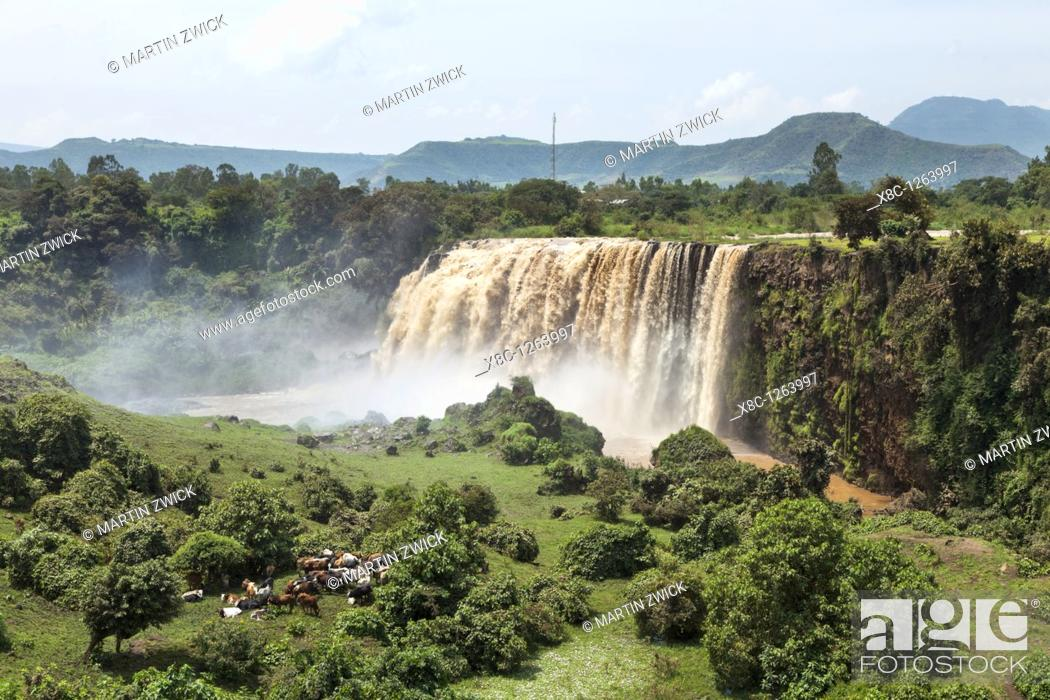 Imagen: The waterfalls of the Blue Nile called Tis Isat in Ethiopia towards the end of the rainy season  Around rainy season Tis Isat translated water that smokes are.