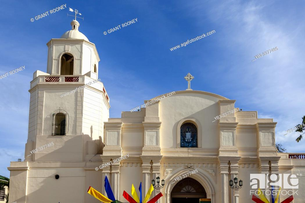 Stock Photo: The Cathedral Parish of St John The Baptist, Kalibo, Panay Island, Aklan Province, Western Visayas, The Philippines.
