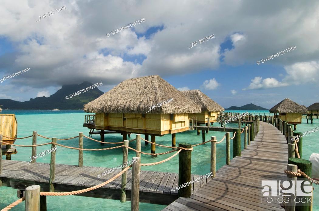 Stock Photo: Pearl Beach Resort, Bora-Bora, French Polynesia.