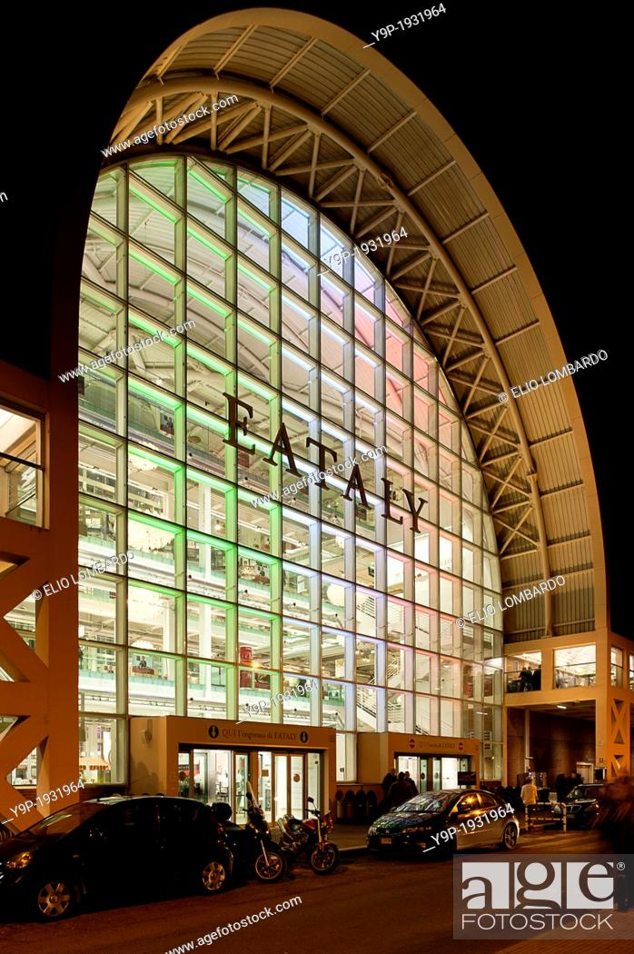 Stock Photo: Exterior View of Eataly Rome. The Former Terminal of Ostiense. Rome, Italy.