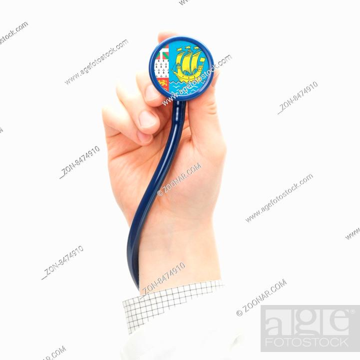 Imagen: Stethoscope with national flag conceptual series - Saint-Pierre and Miquelon.