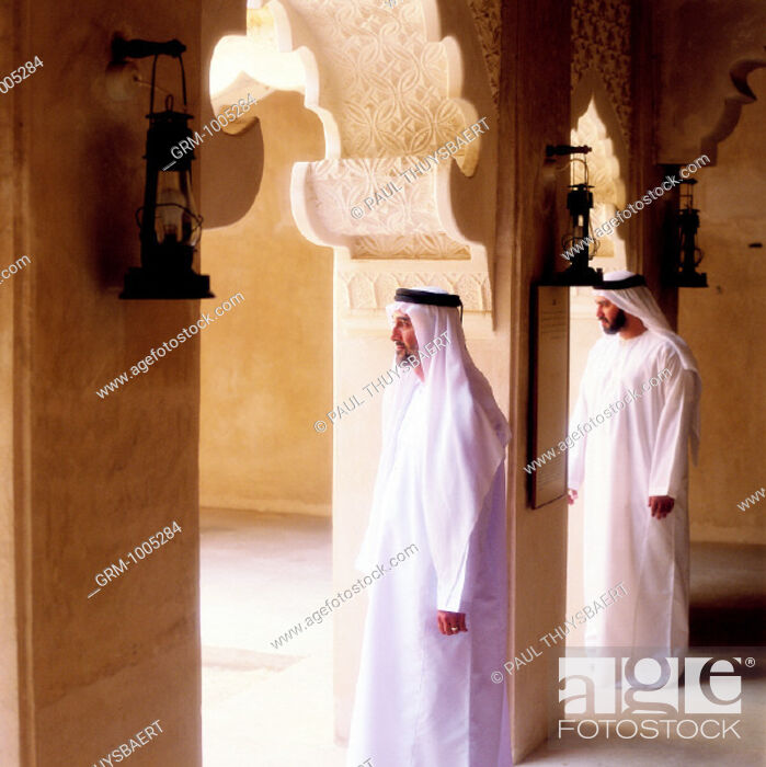 Stock Photo: Men entering a mosque for praying.