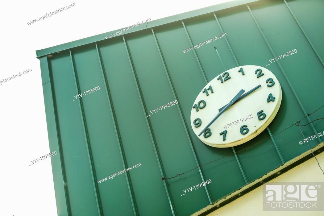Stock Photo: Outdoor clock.