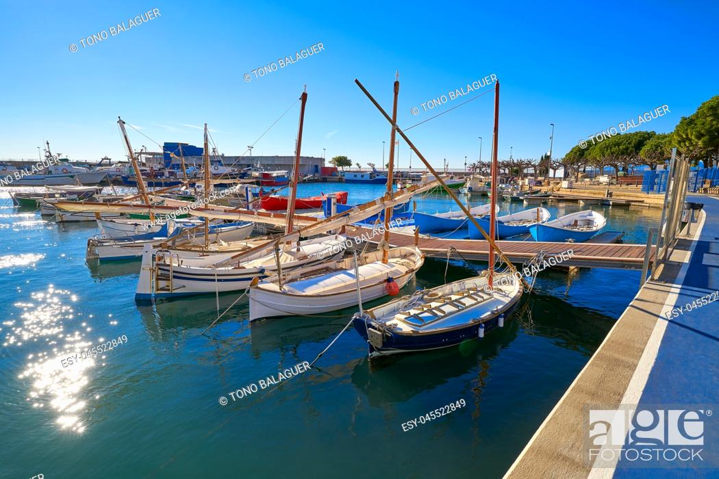 Stock Photo: Cambrils Port marina in Tarragona province of Catalonia.
