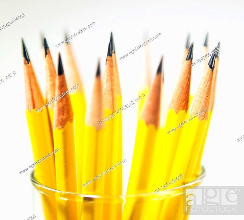 Stock Photo: pencils in the pencilbox.