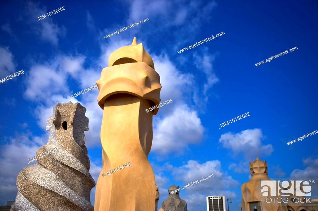 Stock Photo: Spain, Catalonia, Barcelona, Casa Mila.