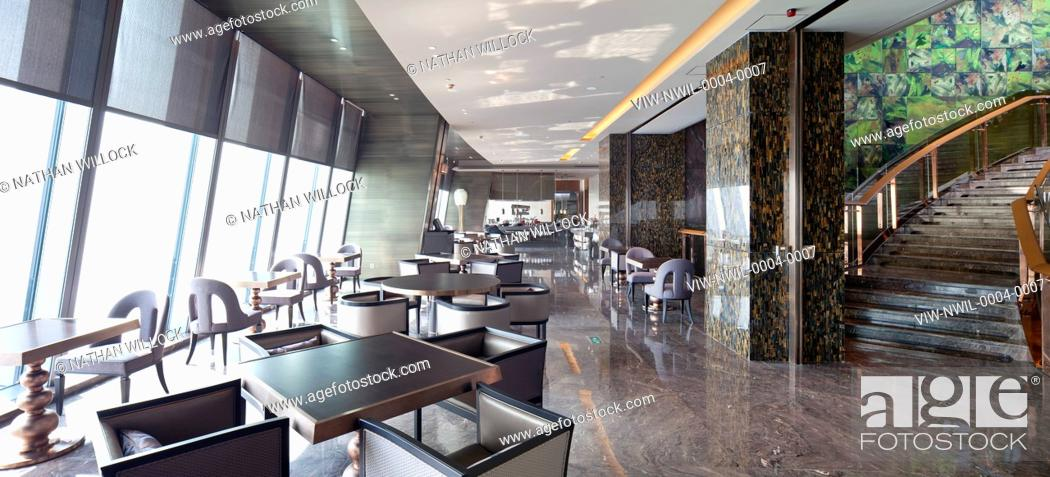 Stock Photo   TERRY FARRELL U0026 PARTNERS, KK100 TOWER, SHENZHEN, 97TH FLOOR  HOTEL RESTAURANT., TERRY FARRELL AND PARTNERS, CHINA, Architect