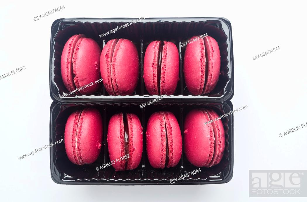 Stock Photo: The current macaroons are cupcakes made with two cookies and a cream or ganache between them. They should not be confused with similarly named sweets called.