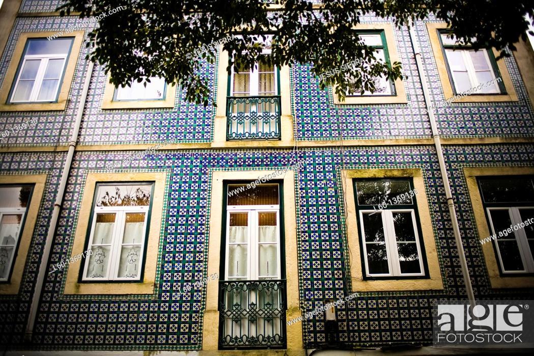 Stock Photo: Facade in Alfama, Lisboa, Portugal.
