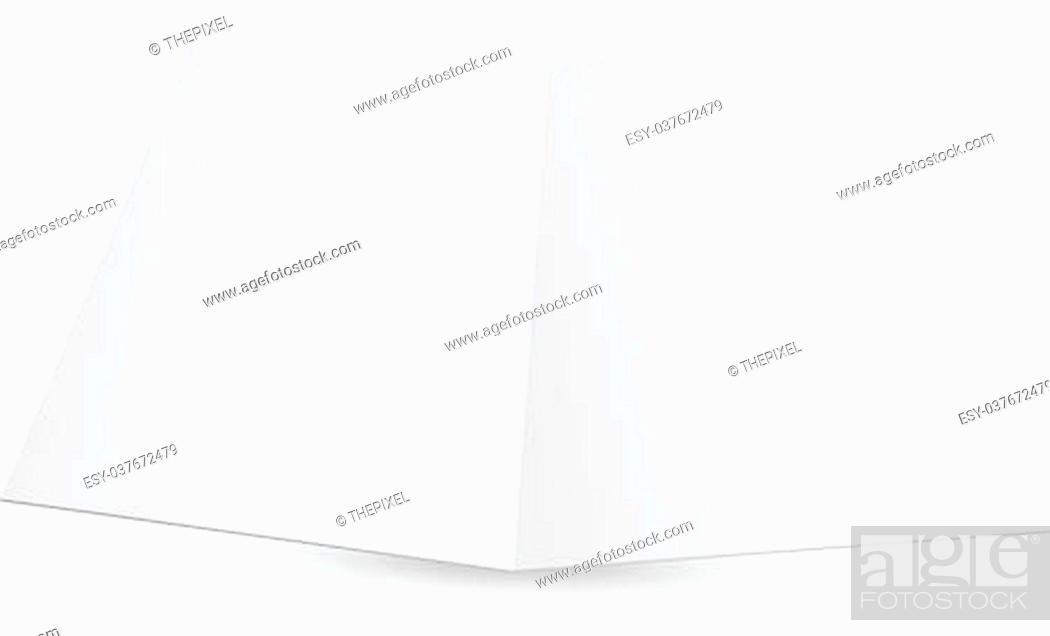 Stock Vector: Blank white zigzag folded paper. Vector illustration.