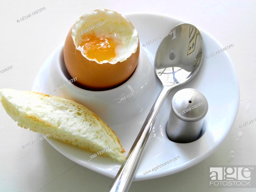 Stock Photo: -Boiled Egg- Breackfast.