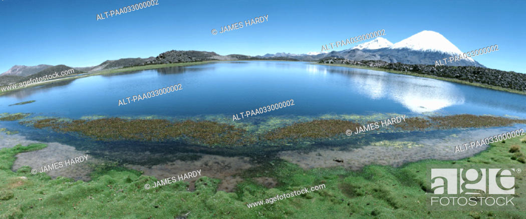 Stock Photo: Chile, lakescape, panoramic view.