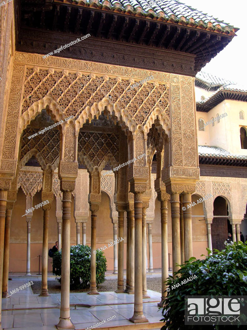 Imagen: Courtyard of the Lions, Alhambra. Granada. Spain.