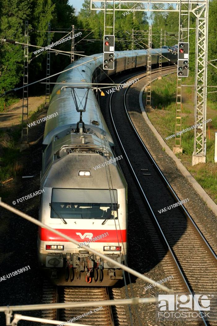 Stock Photo: fast, speed, red, travel, commute, commuting.