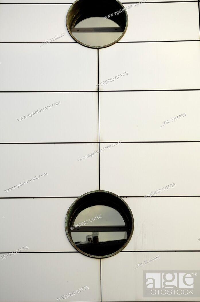 Stock Photo: Round windows.