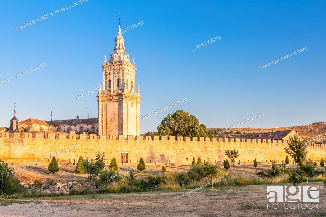 Stock Photo: Cathedral of La Asuncion in El Burgo de Osma village, Soria, Spain.
