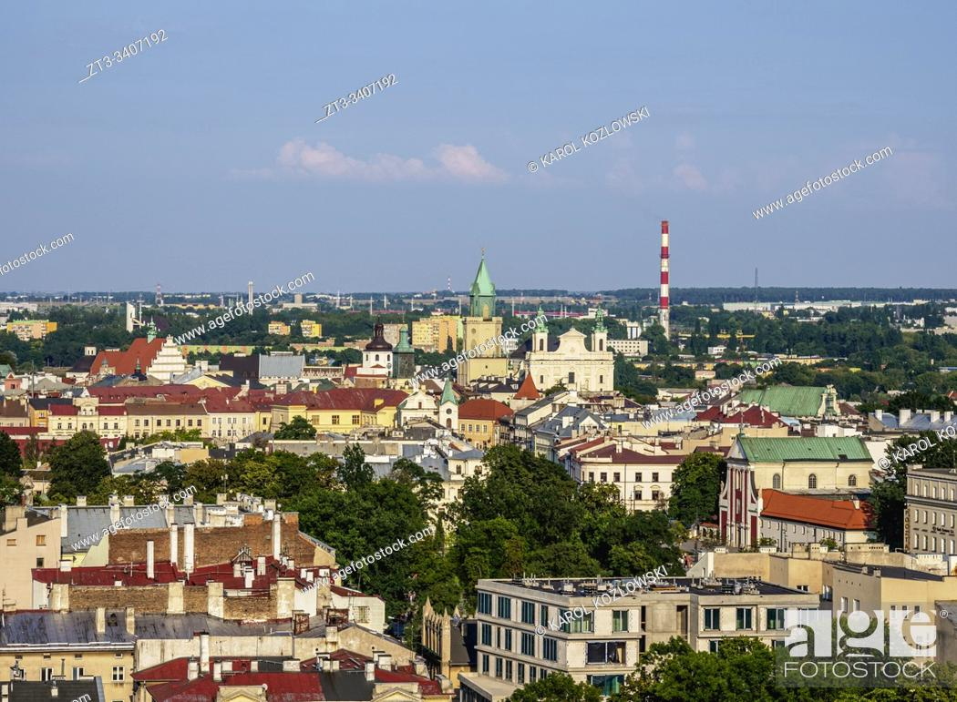 Imagen: City Centre, elevated view, Lublin, Lublin Voivodeship, Poland.