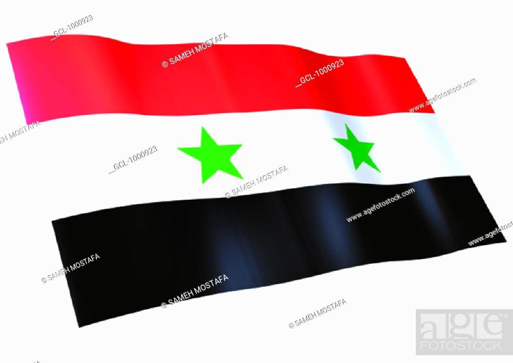 Stock Photo: flag of Syria.