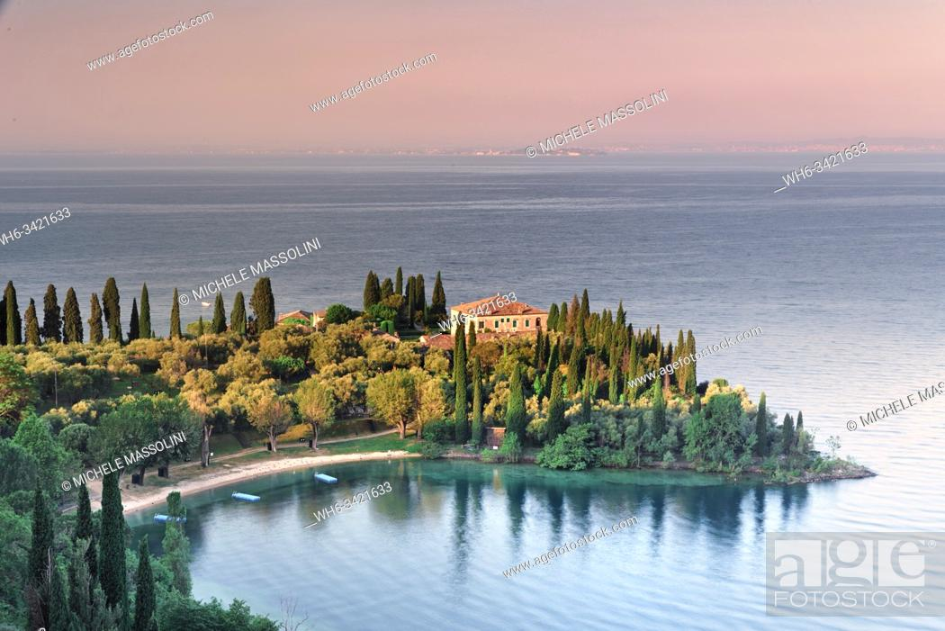 Stock Photo: Punta S. Vigilio, Lake of Garda, Veneto, Italy.