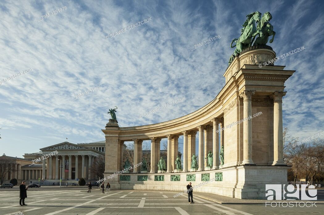 Stock Photo: Heroes' Square in Budapest, Hungary.