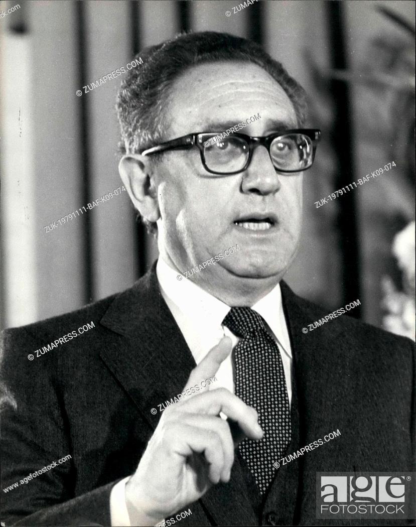 Imagen: Nov. 11, 1979 - Henry Kissinger Press Conference: Mr. Henry Kissinger, the former American Secretary of State, gave a press conference today at the Grosvenor.