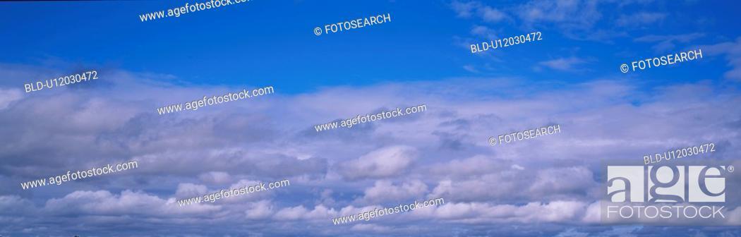 Stock Photo: sky, panorama, scene, nature, landscape, cloud, panoramic view.