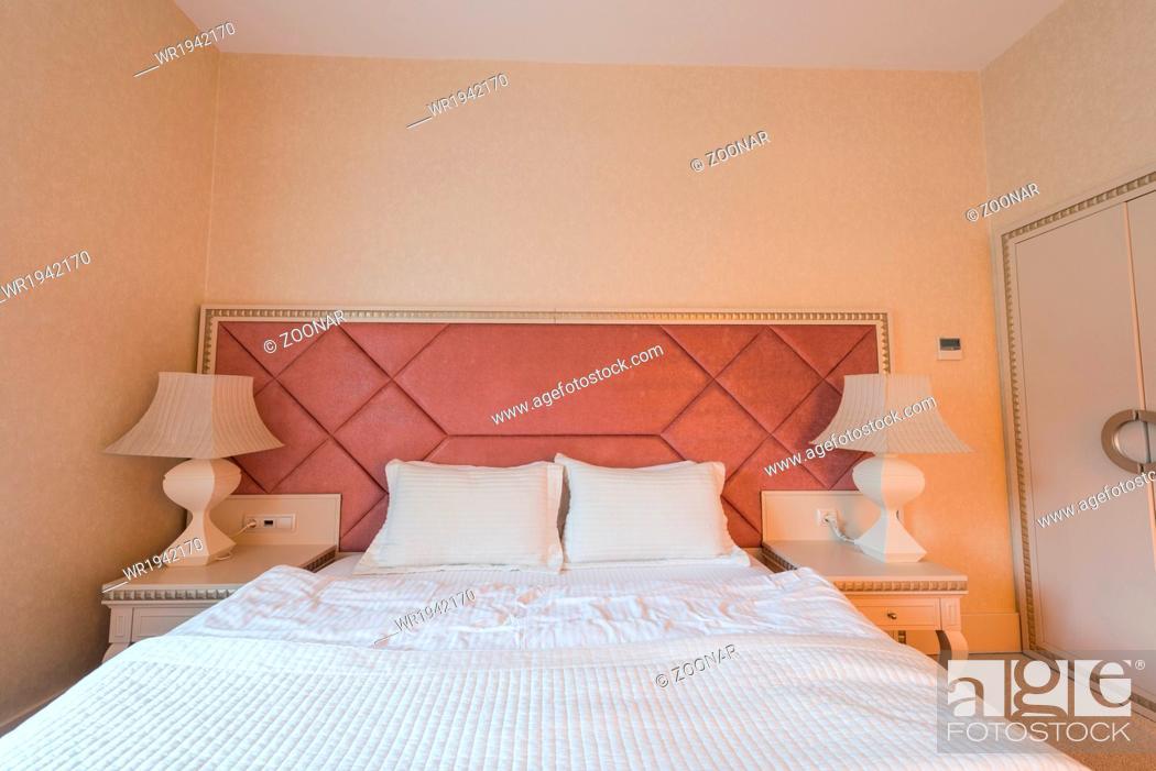 Imagen: GABALA - MAY 18: Room in Riverside Hotel on May 18, 2014 in Gabala, Azerbaijan. Riverside hotel is first 5 star hotel in Gabala, Azerbaijan.