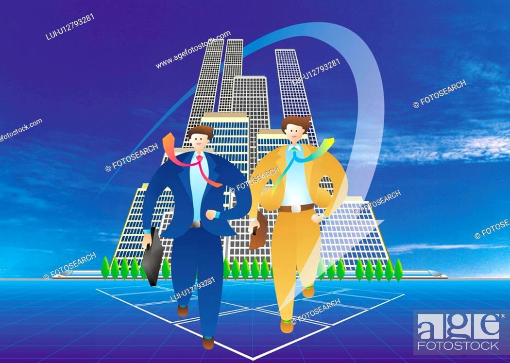 Stock Photo: Businessmen Running.