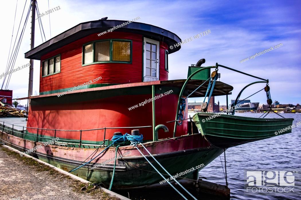 Imagen: Exterior of the Red Boat in Stockholm, Sweden.