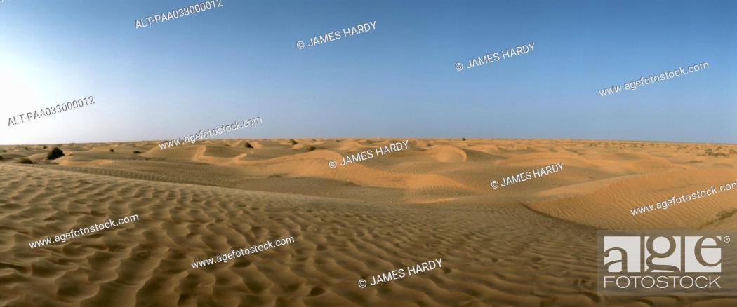 Stock Photo: Tunisia, desert, panoramic view.