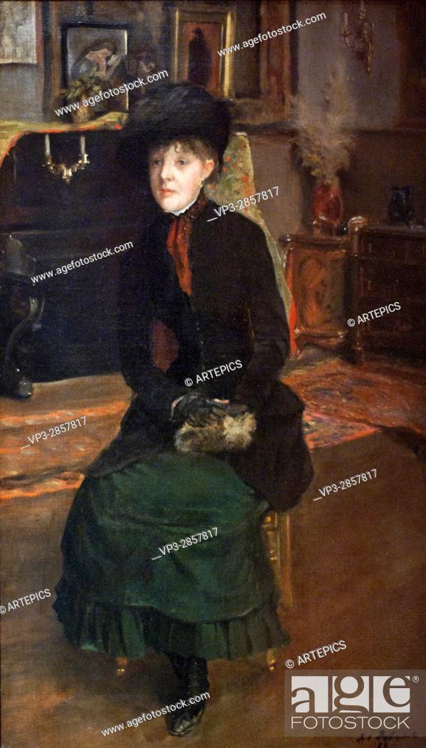 Stock Photo: Jacques-Emile Blanche. Mary Cassatt, painter. 1885. Carnavalet Museum - Paris.