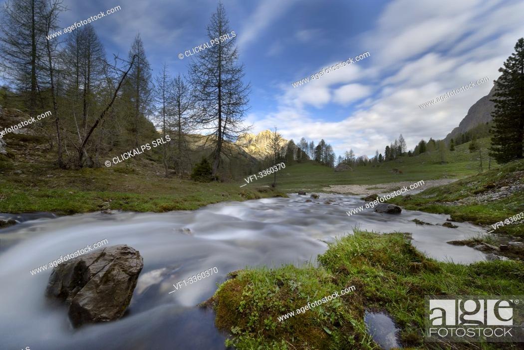 Stock Photo: Europe, Alps,Italy, Trentino Alto-Adige,Dolomites,Fassa valley,.