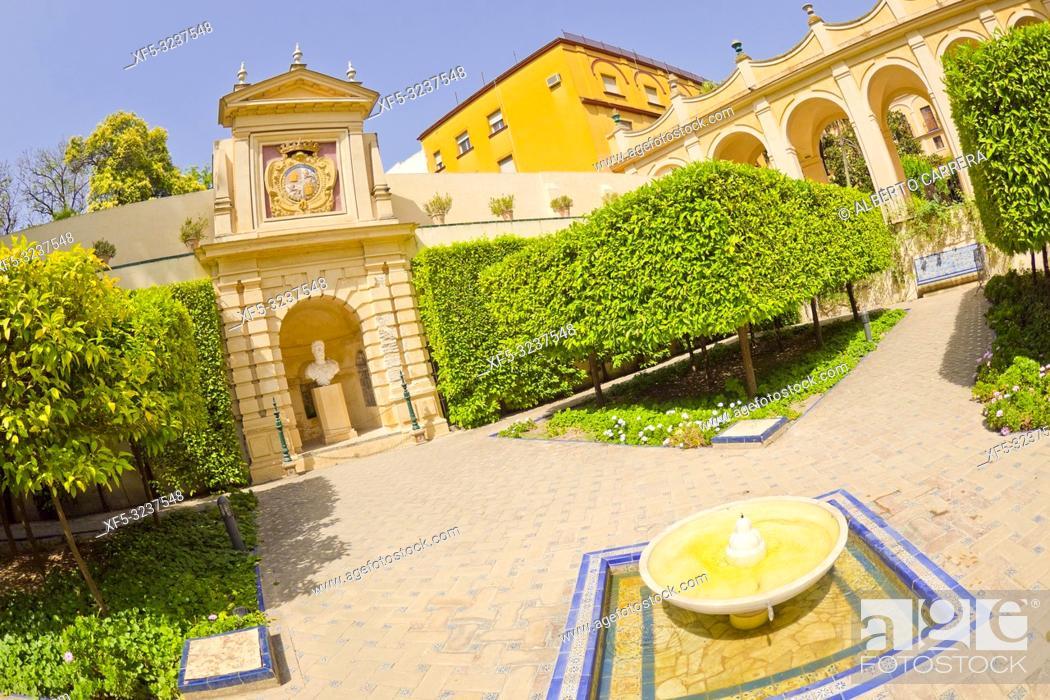 Stock Photo: Royal Alcazar of Sevilla, Old Town, Historical Center, Sevilla, Andalucía, Spain, Europe.