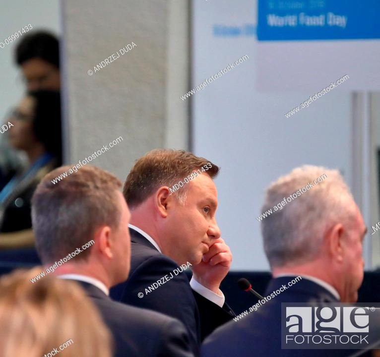 Official Visit Of The Republic Of Poland President Andrzej Duda At The Headquarters Of The World Stock Photo Picture And Rights Managed Image Pic Mdo 05991433 Agefotostock