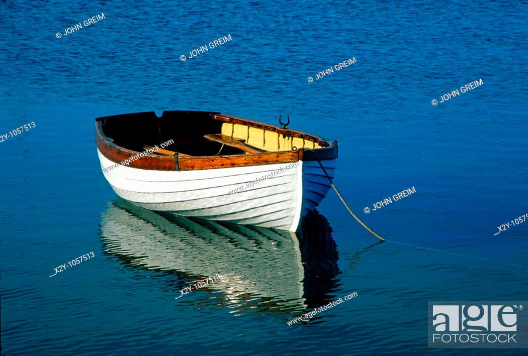 Stock Photo: Rustic wooden row boat, Cape Cod.