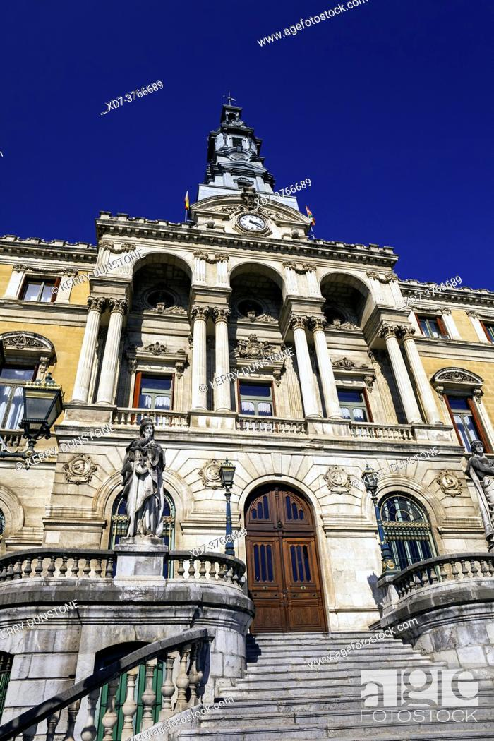 Stock Photo: Europe, Spain, Basque Country, Bilbao City Hall (Bilboko Udaletxea).