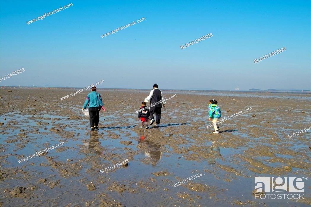Stock Photo: group, sea, person, people, island, natural.