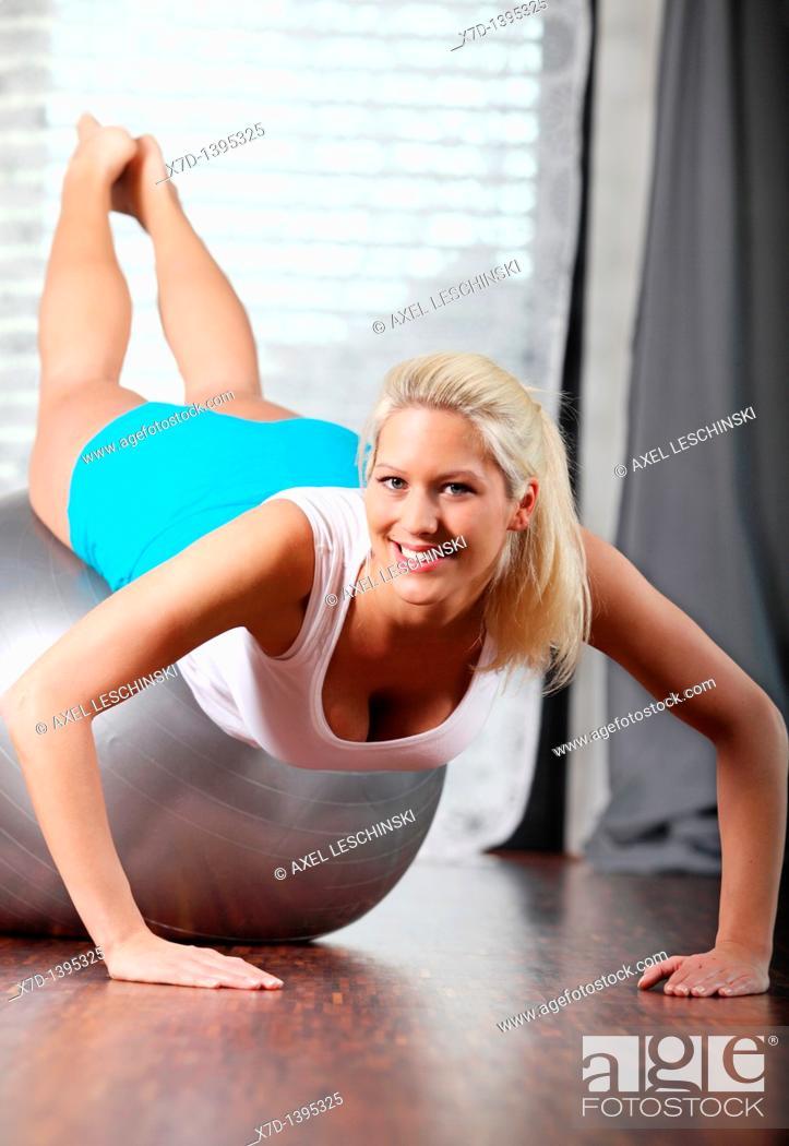 Stock Photo: woman workout.